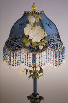 Creative 10 ideas for residential lighting lampshades victorian nightshades exquisite one of a kind antique and vintage fabric lampshades on period lamp bases with hand beaded fringe mozeypictures Gallery