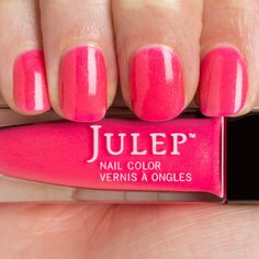 Julep Caitlin: Shocking hibiscus with gold shimmer