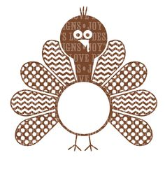 Turkey Monogram (Includes Girl Version) SVG and DXF Digital Download by JoysLoveDesigns on Etsy https://www.etsy.com/listing/206117759/turkey-monogram-includes-girl-version