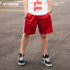 FuzWeb:VIISHOW Shorts Men Letter Shorts For Men Summer Short Pant Male Fitness Casual Drawstring Shorts Men Clothes KD1197172