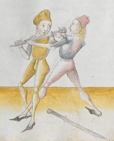 Lecküchner, Hans: Kunst des Messerfechtens Nordbayern, 1482 Cgm 582 Folio 327