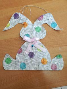 Easter bunny door hanger from paper🐰