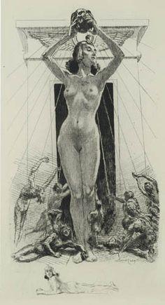 'Le Soleil de la Mort / The Sun of Death' , Almery Lobel-Riche, 1922.