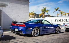 Blue Acura NSX
