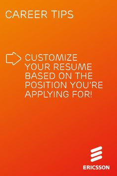 Use this Ericsson career tip to catch the eye of a recruiter.