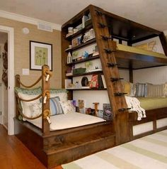 earthquake proof the shelves these beds are great~