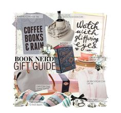 """""""BOOK NERD : GIFT GUIDE"""" by cutandpaste ❤ liked on Polyvore featuring Mor, Gap and Kate Aspen"""