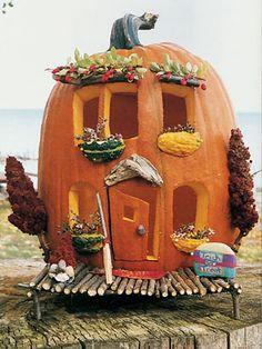 A pumpkin house- how fun!