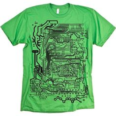 Circuit Board Tshirt Cool Geeky Technology by nonfictiontees, $15.00
