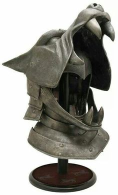 The Hound's Helm officially licensed from HBO's Game of Thrones - Valyrian Steel, officially licensed swords, arms, and armor from HBO's Game of Thrones & George R. Helmet Armor, Arm Armor, Body Armor, Knights Helmet, Wolf Helmet, Wolf Mask, Armadura Medieval, Fantasy Armor, Fantasy Weapons