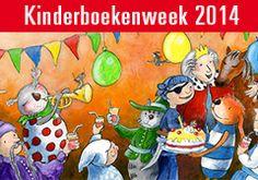 KBW2014 thema Feest Boek, lesideeen en digibordlessen; Kinderboekenfeest