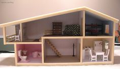 Flipped dollhouse