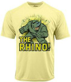 61b25b9f0 Rhino Run Dri Fit graphic T-shirt moisture wicking superhero comic book SPF  tee -