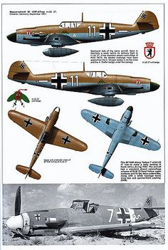 Bf 109 F, F1, F2, F4 and F4 Trop variants (3) | GLORY. The largest archive of german WWII images | Flickr