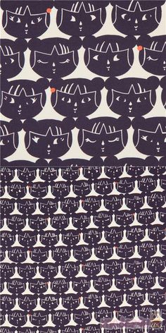 Made in Japan, cream fabric with faces of little girls in dark purple, very high quality fabric, typical great Alexander Henry quality, Material: 100% cotton #Cotton #Children #USAFabrics Alexander Henry Fabrics, Kawaii, Modes4u, Japanese Fabric, Girl Face, Dark Purple, Creme, Little Girls, Cotton