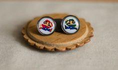Super Mario Mario & Luigi Earrings - Super Mario Pixel Art - Pixel Earrings