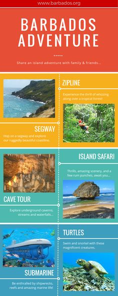 Share a #Barbados island adventure with family & friends...