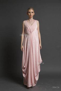 Maxi dress, Prom dress, Bridesmaid dress, A unique piece, maxi peach bridesmaid convertible dress. Crecian style derss,