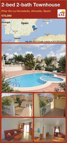2-bed 2-bath Townhouse in Pilar De La Horadada, Alicante, Spain ►€75,000 #PropertyForSaleInSpain