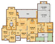 mediterranean homes plans Mediterranean Homes Exterior, Mediterranean Home Decor, Mediterranean Architecture, Exterior Homes, Bedroom Layouts, House Layouts, Dream House Plans, House Floor Plans, Autocad