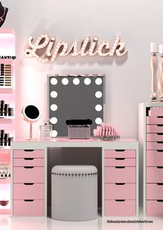 Makeup Room Ideas Organizer Storage and Decoration ( Room Idea) Make.DIY Makeup Room Ideas Organizer Storage and Decoration ( Room Idea) Make. Makeup Room Decor, Makeup Rooms, Beauty Room Decor, Makeup Vanity Decor, Beauty Room Salon, Vanity Room, Diy Vanity, Vanity Ideas, Mirrored Vanity