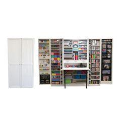 WorkBox / Bastelschrank – The Brand Box Handel & Vertrieb GmbH Craft Room Storage, Craft Organization, Storage Bins, Locker Storage, Stamp Storage, Storage Systems, Storage Place, Hobby Box, Mdf 15mm