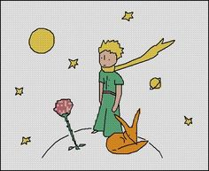 BOGO FREE! The Little Prince Cross Stitch Pattern, Needlecraft Le Petit Prince Embroidery Needlework PDF Instant Download #021-2