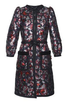 Warped Flower Sequin Jacquard Jacket