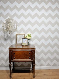 Chevron pattern | 9 Fun And Creative Paint Ideas For Your Walls - will be fun to try for my new room!