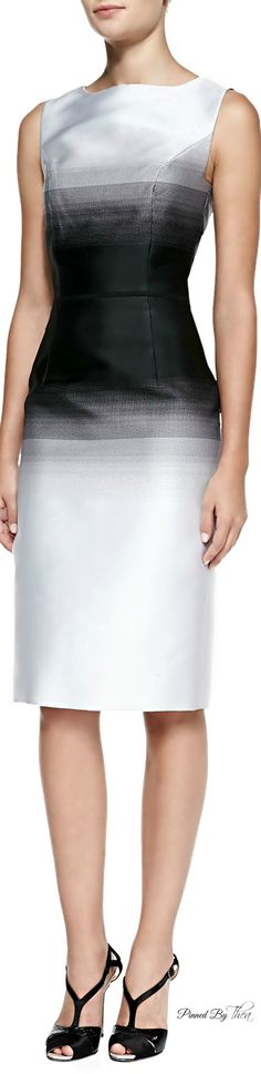 Carolina Herrera - Ombre Sheath Midi-Dress - now this is timeless styling.