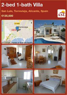 2-bed 1-bath Villa in San Luis, Torrevieja, Alicante, Spain ►€135,000 #PropertyForSaleInSpain