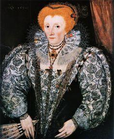 1590 Queen Elizabeth I 1533-1603 Unknown Artist Jesus College Oxford