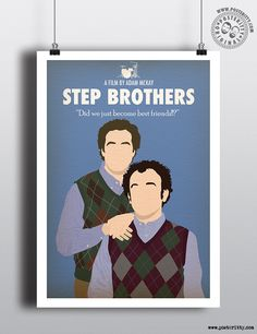 Step Brothers Minimal Movie Poster by Posteritty #MinimalPosters #Minimalist #Posteritty #PosterittyStyle #StepBrothers #WillFerrell #MinimalMoviePoster