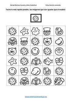 Atención Sostenida Tacha lo más rápido posible las imagenes igual al modelo -Orientacion Andujar Teacher Worksheets, Worksheets For Kids, Printable Worksheets, Preschool Learning, Preschool Activities, Logic Games, Psychology, Homeschool, Ice Cream