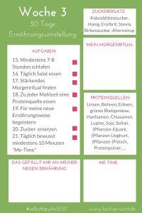 30 Tage Ernährungsumstellung - Wie Du in 30 Tagen deine Ernährung revolutionierst, Woche 3 #selbstlaeufer2017
