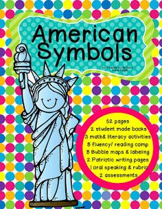 American Symbols- Fluency and Math Activities that Support symbol American Symbols {BUNDLE} Informational Reading, Art, and so much 3rd Grade Social Studies, Kindergarten Social Studies, Social Studies Activities, Teaching Social Studies, Kindergarten Fun, Classroom Fun, Classroom Activities, Math Literacy, Patriotic Symbols