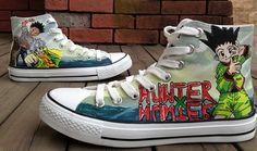 HUNTERxHUNTER Anime Shoes HUNTERxHUNTER Anime High-top Painted C,High-top Painted Canvas Shoes