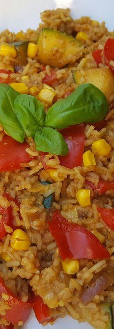 Schnelle Reispfanne - Mit Kokos-Curry