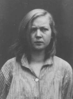 "Emmi G.,16, diagnosed as schizophrenic, fell victim to the Euthanasia Program, Germany's first mass murder program, one of many eugenic measures to restore German racial ""integrity"" by killing those with disabilities. At first only infants and toddlers were killed, but the program eventually included juveniles up to 17. At least 5,000 German children perished in the ""euthanasia"" program. Emmi was sterilized and later killed with an overdose of tranquilizers on December 7, 1942."