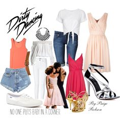 Dirty Dancing: Baby by paige-robson on Polyvore featuring Twin-Set, Jens Pirate Booty, Joseph, Hudson Jeans, Levi's, Burberry, Michael Antonio, Keds, Bottega Veneta and Wallis