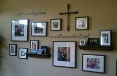 Love this wall display. Taken at my friend, Mikki's, house. #home #familypictures