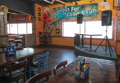 Bay View Party Room at Fudpuckers Okaloosa Island  ||  Private wedding and event venue space, catering, private bar, stage