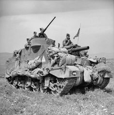 An M7 Priest of the 11th (HAC) Regiment Royal Horse Artillery in Tunisia