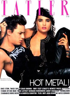Tatler magazine - June 1986 - Nick Kamen and Talisa Soto - Ph. David Bailey Photography, Talisa Soto, 1990s Supermodels, English Fashion, Cool Magazine, Bond Girls, Old Magazines, Best Model, Indian Hairstyles