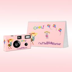 What a special thing, to be the Big Sister! The camera and photo album are both decorated with a delicate pink background with colorful kites and a big sister. Give her a gift she will love to use. Big Sister Gifts, Non Toy Gifts, Brag Book, Kites, Kid Names, Gift Bags, Gifts For Kids, New Baby Products, Delicate