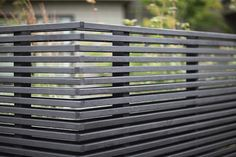 A slatted cedar fence allows for privacy while the gaps are still wide enough to see through. The fence has no corner post, allowing for an unrestricted view from inside. Cedar Privacy Fence | Gardenista