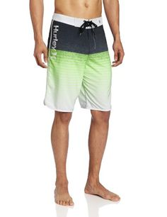 Hurley Men's Froth Broadcast Phantom, Neon Green, 38 $59.5 #SwimWear #Apparel #Hurley