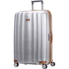 Samsonite Lite Cube Deluxe Large Suitcase in Silver | Buy 4 Wheel Suitcases