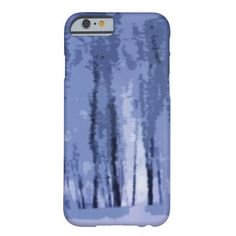 Blue Winter Woods Abstract iPhone 6 Case