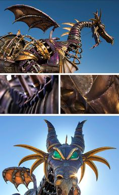 "Steampunk Inspired Maleficent Dragon coming this spring to the ""Disney Festival of Fantasy Parade"" at Magic Kingdom"